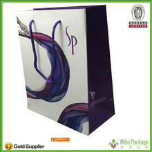 top sale 100% eco-friendly tote paper shopping bag with famous band
