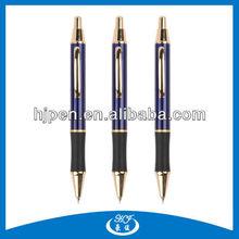 Click Half Metal Ball Pen, Rubber Grip Protect Ball Pen