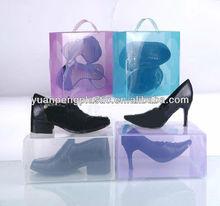 Zapatos de plástico de embalaje, Encargo zapatos de boxeo, Claro pp cajas de zapatos