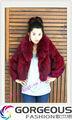 senhora rabbit fur coat com raccoon fur collar inverno de roupas