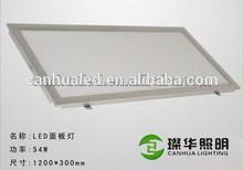 Updated high bright 54w led light panel 1200 300, 30x120 panel led light 54w, hospital/office led ceiling panels 1200x300 54w