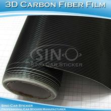 SINO CAR STICKER Best Selling 3D Carbon Fiber Car Bonnet Sticker Carbon