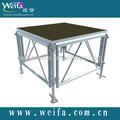 De aluminio combinado etapa 1220*1220mm/1220*2440mmstage, ajustable etapa.