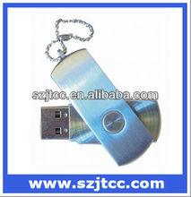 Metallic Key Ring USB Disk