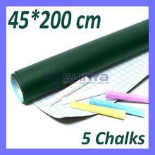 6.5ft vert Chalk conseil comprend craie de couleur 2 blanc, 1 rose, 1 bleu, 1 jaune