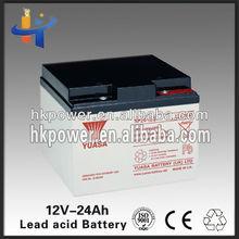 rechargeable sealed lead acid battery 12V 24ah
