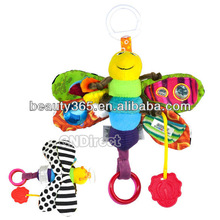 NEW Colorful Baby's Toddlers Cute Fly Honey Bee Soft Lovely Developmental Toy Musical Plush toy