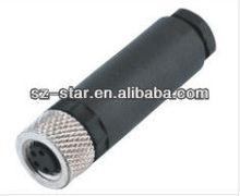 M8 series, Field installable, female pin, screw type, solder ,waterproof connector