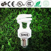 7W mini half spiral CFL lighting spiral bulb CE of Spain 8000hrs