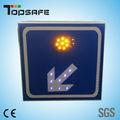 solarbetriebene blinkende pfeil nach links zeichen