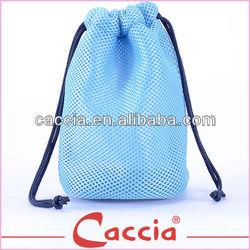 newest design mesh drawstring pen bag