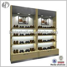 wall mounted retail shoe display showcase