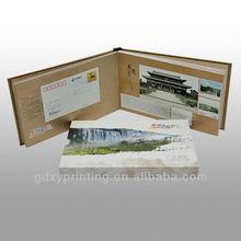 Landscape Custom-made Hard/soft Cover Stamp Album with paper bag printing