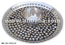 Aluminum Platter, MOP Inlayed