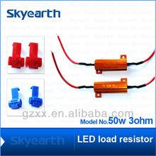car LED resistor 50w 3ohm all cars acceptable turn signal light fog light available