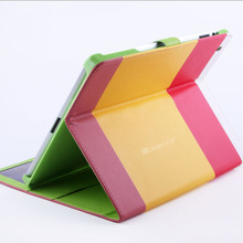 Innovate product Colorful wallet flip leather stand case for ipad 4 original