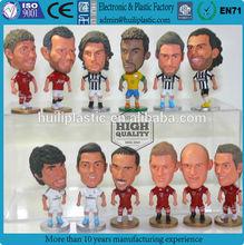 TPR sport player Wholesale Plastic Toy Figures/TPE Cheap Plastic Figure Toys/HIPS football player promotional plastic figure
