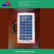 3W poly solar panel with half aluminium half plastic