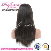 AAAAA Hot Sale Silky Free Sample 100% Virgin Remy Human Hair Full Lace Wigs