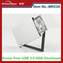 "Screw Free HDD Enclosure 2.5"" USB 2.0 Hard Disk External Case"
