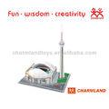 3d juguetes del molde de la torre cn& sky dome( canada) 3d puzzles/rompecabezas molde