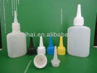 30ml/50m oval HDPE Cyanoacrylate Adhensive Plastic Bottle with needle dropper JB-099