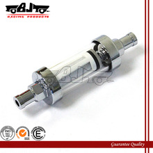 BJ-FF-2002 High quality 10mm 3/8'' motorcycle chrome inline fuel filter for dirt bike