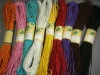 Colored rayon elastic rubber band