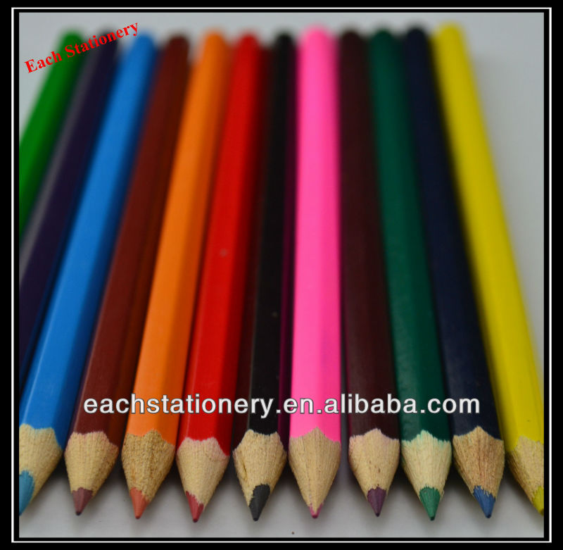 Wood Drawing Color 7 Quot Hexagonal Printing Wood Drawing Color Pencil Wholesale View Color Pencil