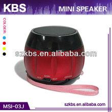 Portable Mini Speaker Volume Control With Compatible USB/FM,LED Light