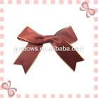 Polyester Satin ribbon with gold edge decoration ribbon bow