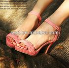 nice china wholesale weave strap platform sandal sex high heel