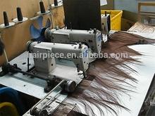 Irmão de três cabeça da máquina trama do cabelo, profissional japão usado máquina de costura industrial