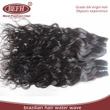 12,14 inch water wave Virgin Remy brazilian human hair weft, 100% guangzhou queen love hair products co. ltd