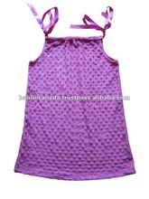 Children's Boutique clothes- Minky dot pillowcase dress-#74
