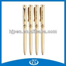 Novelty Design Golden Twist Metal Ballpoint Pen, Aluminum Pens For Promotion