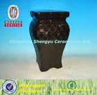 2014 new design monochrome glazed chinese ceramic garden seat