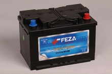 12 V 75 Ah. Feza Battery - Dry Charge