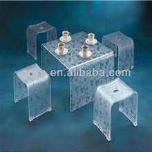 Factory directly sale fashionable high quality tea table and chairs set