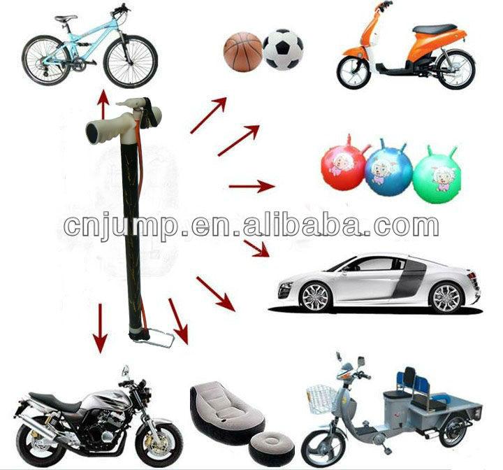 de plástico de la mano de alta inflador de aire para las bolas o bicicletas