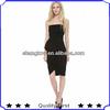 side zipper drape front peplum latest dress designs