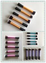 4 colors for option: 5 pieces essential make up kabuki brush set