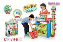 Kids Plastic Toy Super Market Shelves Toy Vending Machine Play Set Toy