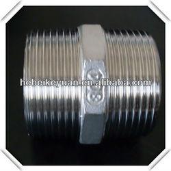 ANSI cf8 cf8m stainless steel standard hex nipple