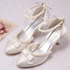 (12 Colors)Spring Shoes Wedding Store with Pearls