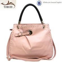 Korean office shoulder woven handle stylish handbag supplier guangzhou bags women