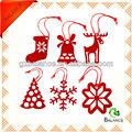 bianco in tessuto feltro festival campana albero di natale decorazione