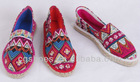 tribal shoes Espadrilles,tribal print canvas Flats,tribal slip on shoes