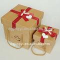 Main kraft papier cadeau boîte / kraft paperr boîte en carton