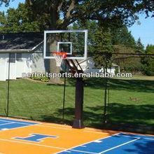 Basketball System with 54-inch Aluminum Framed Glass Backboard